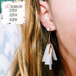 2/$10 Jada Minimalist Bar Cluster Dangle Earrings